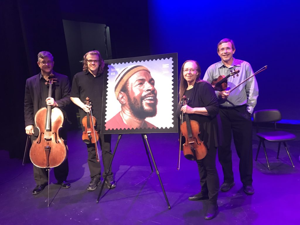 Landolfi Quartet played for the Saint Louis local Marvin Gaye postage stamp unveiling